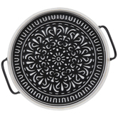 Black & White Medallion Metal Tray