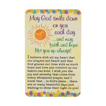 May God Smile Down On You Wallet Card