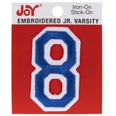 "Junior Varsity Number Iron-On Applique - 2"""