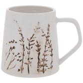 White & Brown Branches Mug