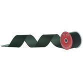 """Dark Green Wired Edge Velvet Ribbon - 2 1/2"""""""