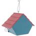 Polka Dot Wood Birdhouse With Flower