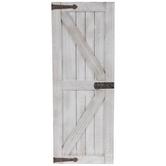 White Barn Door Wood Wall Decor