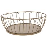 Gold Metal Basket