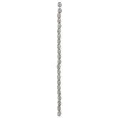 Engraved Barrel Bead Strand - 7.9mm x 6.5mm