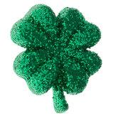 Green Glitter Shamrock Shank Buttons