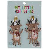 Mini Reindeer Shaker Ornaments