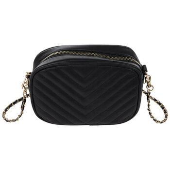 Black Imitation Leather Crossbody Handbag
