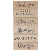 Sentiments Rubber Stamps