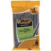 Black Xtra Life Pens - 10 Piece Set