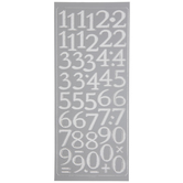 Silver Foil Number Stickers