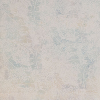 Cream Floral Batik Cotton Fabric