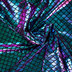 Blue, Green & Pink Mermaid Scale Knit Fabric