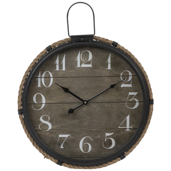 Round Rope Trim Metal Wall Clock