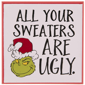 The Grinch Ugly Sweaters Wood Wall Decor