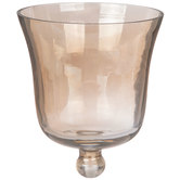 Amber Glass Peg Candle Holder Cup