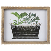 Leaves In Bathtub Framed Wall Decor