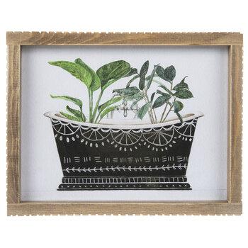 Leaves In Bathtub Framed Wall Decor