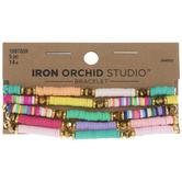 Multi-Color Heishi Bracelets