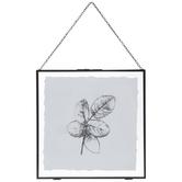Leaf Print Framed Wall Decor