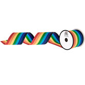 Rainbow Striped Grosgrain Ribbon - 3""