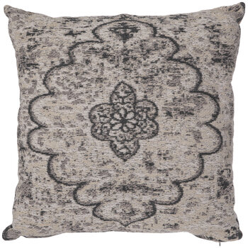 Grayscale Floral Jacquard Pillow