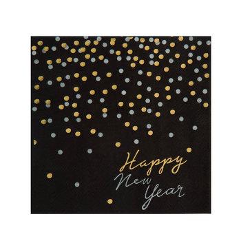 Happy New Year Confetti Napkins - Small