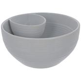 White Ridged Chip & Dip Bowl