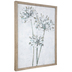 Gray, White & Green Floral Canvas Wall Decor