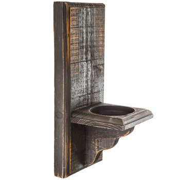 Distressed Wood Wall Sconce