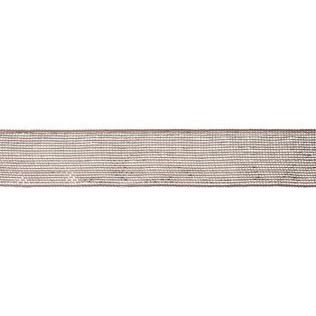 "Rose Gold Metallic Deco Mesh Ribbon - 2 1/2"""