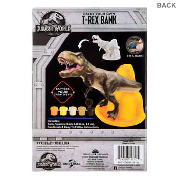 Paint Your Own T-Rex Coin Bank Kit