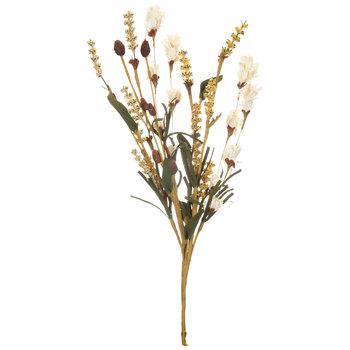 Cream Flower Buds & Berries Pick