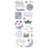 Blue Baby Boy Stickers