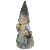 Carved Gnome With Mushroom Basket