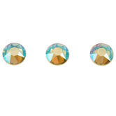 Peridot Shimmer Swarovski Xirius Flat Back Hotfix Crystals - 16ss
