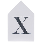 White & Black Letter House Wood Wall Decor - X