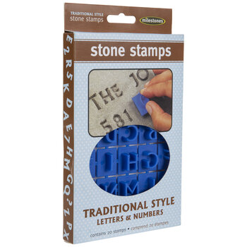 Traditional Alphabet Stone Stamps
