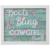 It's A Cowgirl Thing Wood Wall Decor