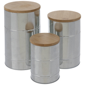 Cylinder Galvanized Metal Containers