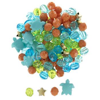 Sea Turtle Novelty Bead Mix