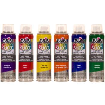 Rainbow Color Shot Fabric Spray Paint