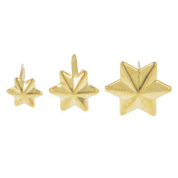 Gold Six-Point Star Brads