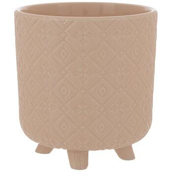 BlushGeometric Flower Pot