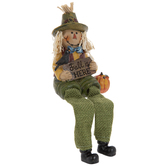 Boy Scarecrow Shelf Sitter