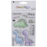 Dinosaur You Rock Clear Stamps