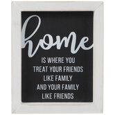 Home Is Where You Treat Friends Like Family Wood Decor