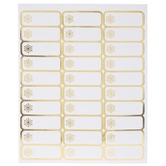 Gold Foil Snowflake Address Labels