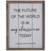 The Future Of The World Wood Wall Decor