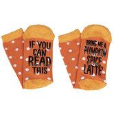 Pumpkin Spice Latte Crew Socks